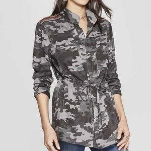 Knox Rose Camouflage Print Long Sleeve Jacket  NWT